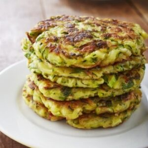 ZUCCHINI HERBED FRITTERS